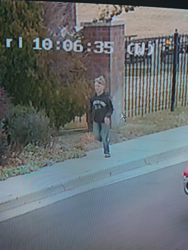 (Courtesy the Sand Police Department) Surveillance footage shows Andrew Cook, 15, leaving the Pepperwood gated community, near 10900 S. 2000 East in Sandy.