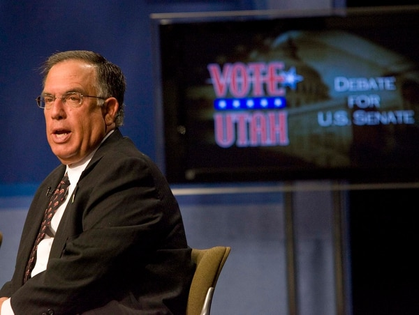 (Tribune File Photo) Democratic candidate for US Senate Sam Granato, at the taping of a candidate debate at the KUED studios in Salt Lake City on Thursday, September 16, 2010.