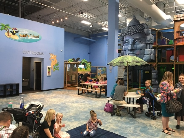 (Erin Alberty, The Salt Lake Tribune) A loaded handgun was found in this restroom near a children's play area at the Loveland Living Planet Aquarium in Draper.