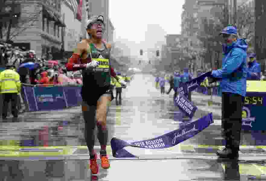 Japan's Yuki Kawauchi surges to win men's Boston Marathon
