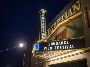 "(Arthur Mola  |  Associated Press file photo) The marquee of Park City's Egyptian Theatre on Jan. 28, 2020, marking the arrival of the Sundance Film Festival. The Sundance Institute announced Wednesday, Dec. 2, 2020, that the 2021 festival will mostly be online — with the possibility of events at 33 ""satellite screens"" nationwide, COVID-19 health protocols permitting."