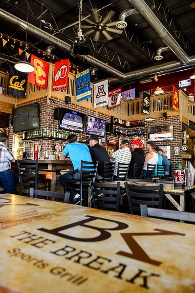 (Trent Nelson | The Salt Lake Tribune) No one wants The Break to become a bar — not its owner Bam Peck, or the South Jordan City Council. But the parties say they have no choice because the Legislature did away with the dining club liquor license. Now The Break, and dozens of other Utah businesses, have to choose between being a bar (no one under 21) or a restaurant (must order food to drink). The Break Sports Grill in South Jordan, Friday June 1, 2018.