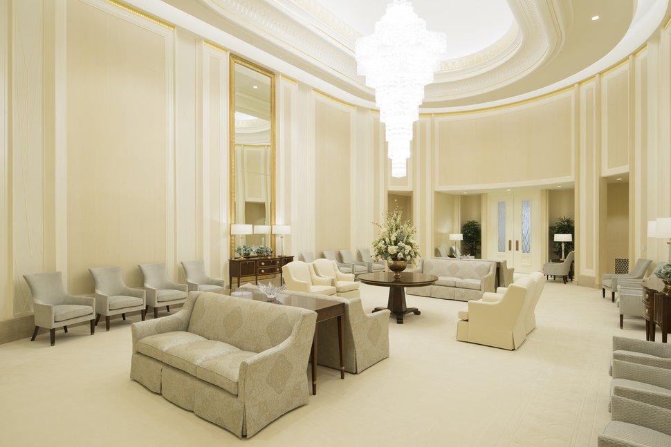 (Photo courtesy of The Church of Jesus Christ of Latter-day Saints) The celestial room in the Jordan River Temple. This temple in South Jordan, Utah, has reopened for limited use amid the coronavirus pandemic.