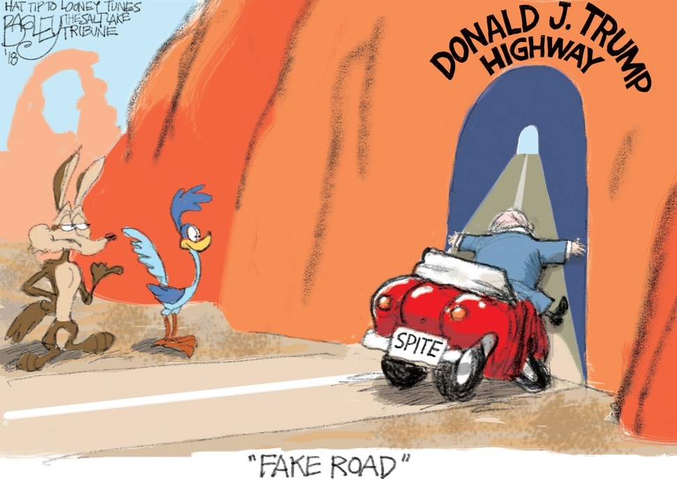 (Pat Bagley | The Salt Lake Tribune) This Pat Bagley cartoon appears in the Sunday, March 4, 2018, Salt Lake Tribune.