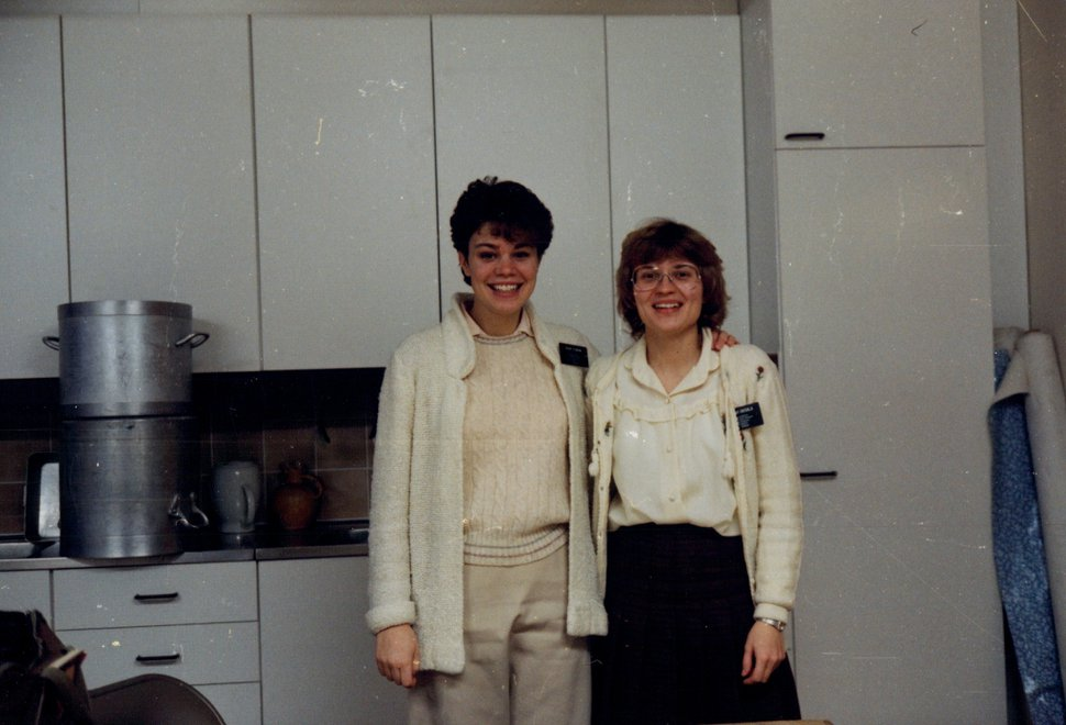 (Photo courtesy of The Church of Jesus Christ of Latter-day Saints) Sharon Eubank, left, of the Relief Society general presidency served a mission in Finland in the 1980s.
