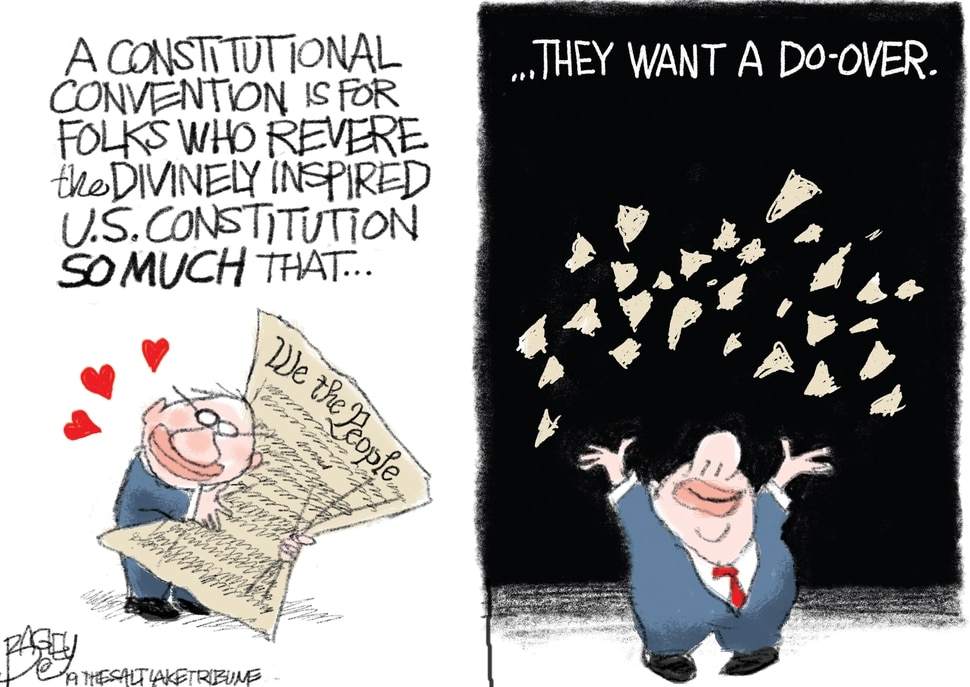 This Pat Bagley cartoon appears in The Salt Lake Tribune on Friday, March 1, 2019.