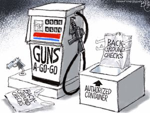 Fueling the Violence |Pat Bagley