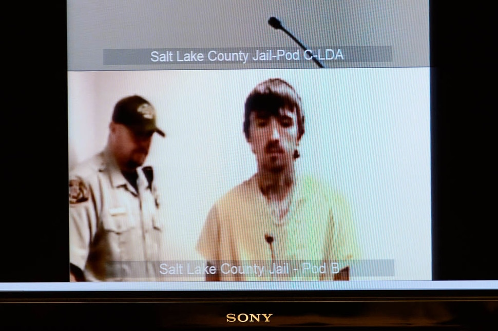 (Trent Nelson | The Salt Lake Tribune) Austin Boutain, charged with murder for fatally shooting University of Utah student ChenWei Guo at the mouth of Red Butte Canyon on Oct. 30, makes his first court appearance in Salt Lake City Tuesday November 21, 2017.