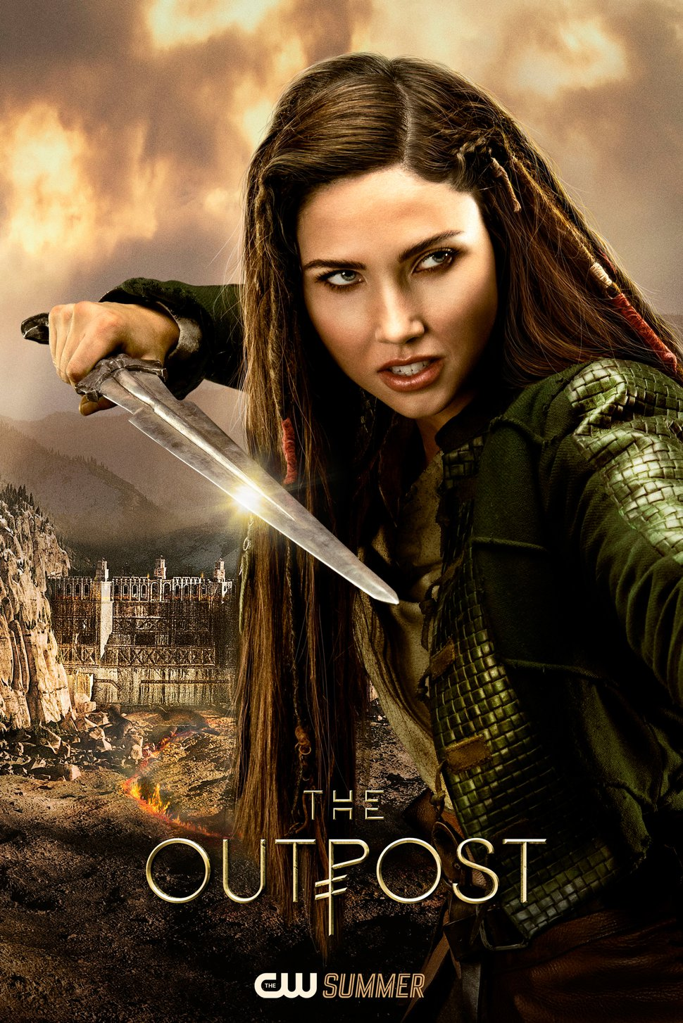 """(Photo courtesy of Electric Entertainment/The CW) Jessica Green stars as Talon in """"The Outpost,"""" which premieres Tuesday, July 10, at 7 p.m. on The CW/Ch. 30."""