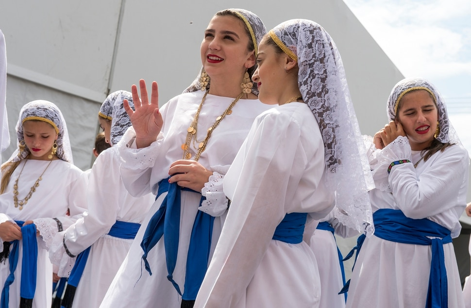 (Leah Hogsten | The Salt Lake Tribune) The Olympian Dancers perform at the 42nd Annual Greek Festival on the grounds of the Holy Trinity Cathedral Greek Orthodox Church. The three day festival offers a wide variety of food and pastries, Greek musicians and dance performances.
