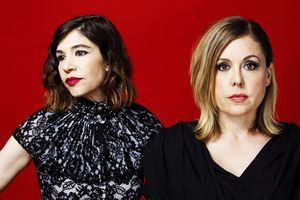 (Photo courtesy of Mom & Pop Music) Carrie Brownstein, left, and Corin Tucker make up the punk/indie-rock band Sleater-Kinney —which is scheduled to co-headline with Wilco at Red Butte Garden on Sunday, Aug. 8, 2021.
