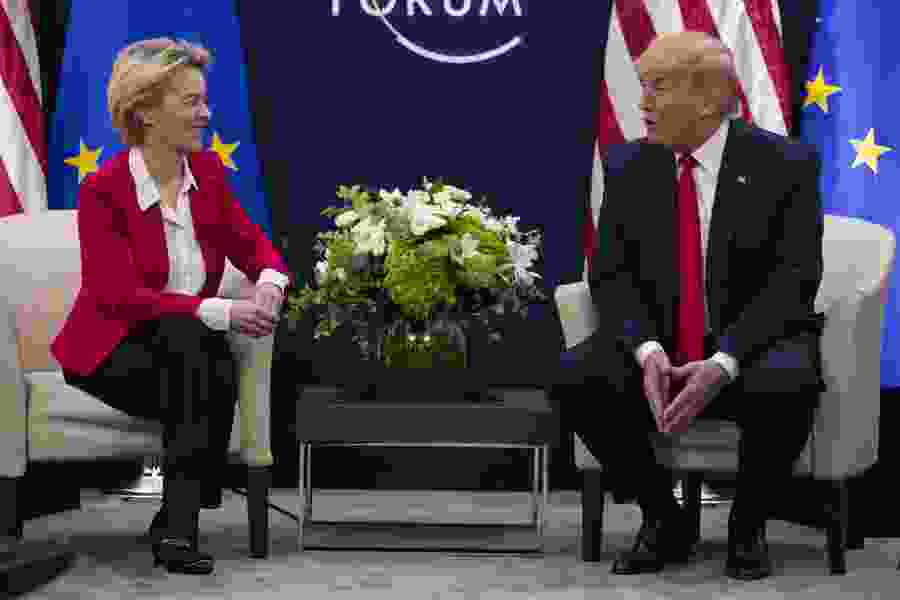 Trump lauds U.S. economy in Davos, says little on climate woes
