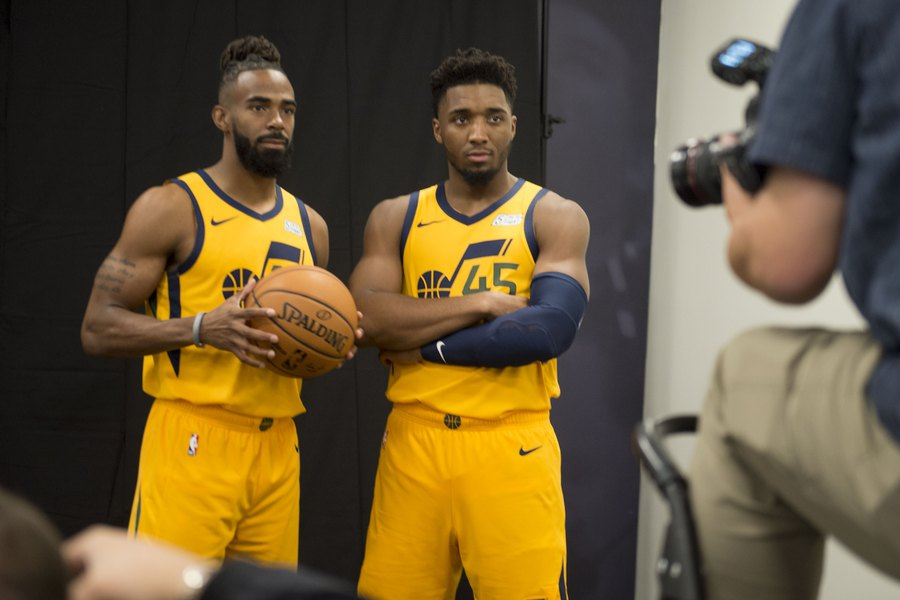 Donovan Mitchell And Mike Conley The Beginning Of A Beautiful
