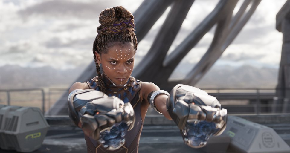 This image released by Disney -Marvel Studios shows Letitia Wright in a scene from