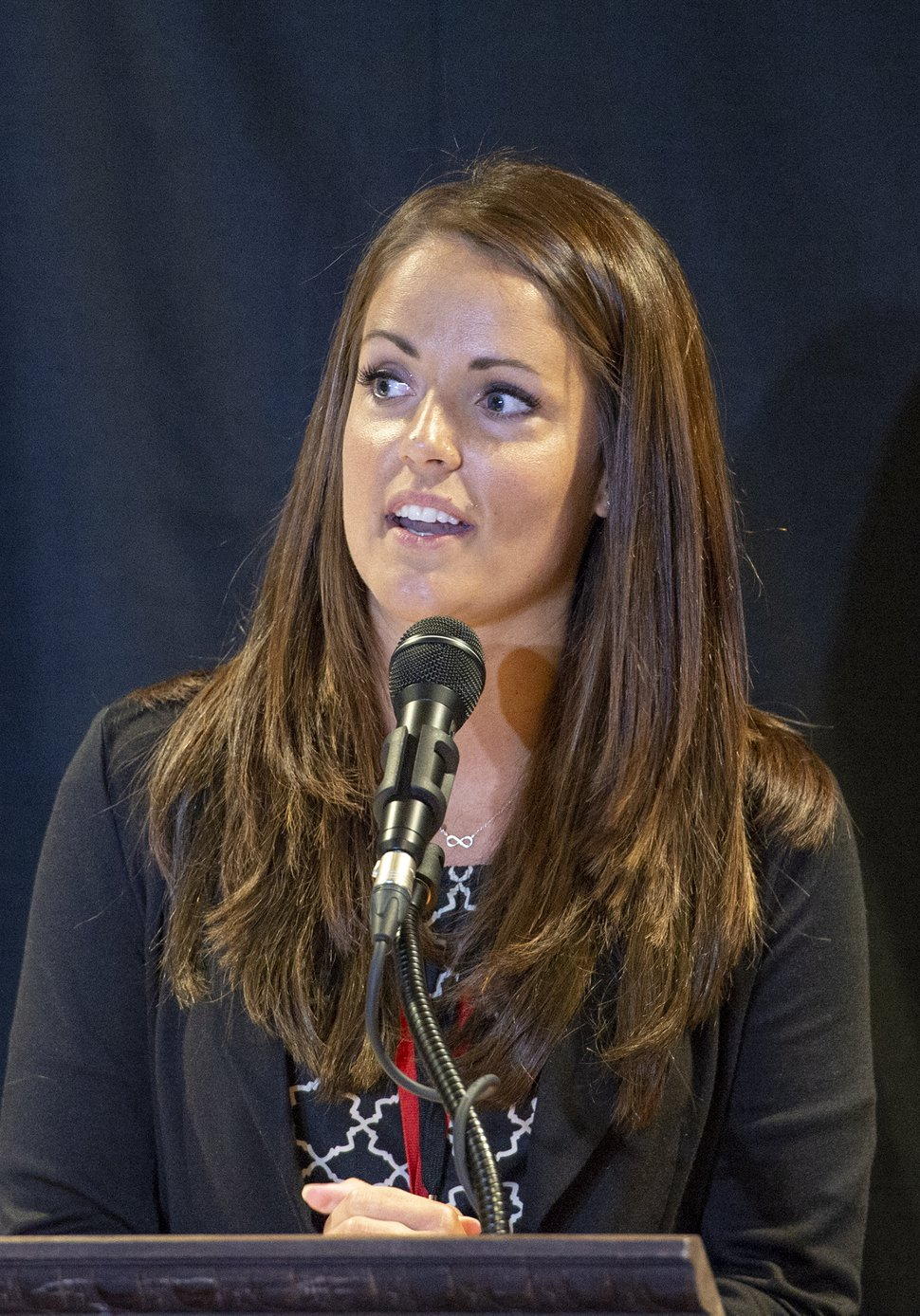 (Leah Hogsten | The Salt Lake Tribune) Kera Birkeland was elected as the new vice chairwoman of the Utah Republican Party, defeating former Chairman James Evans 66-48 in the final round. The Utah Republican Party Central Committee meets Saturday, May 19, 2018, to elect a new party vice chairman and debate several potential bylaw changes.