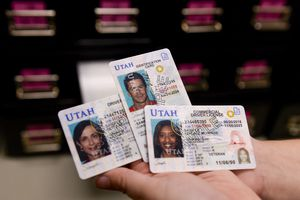 (Leah Hogsten  |  Tribune file photo) This Oct. 1, 2019, file photo shows the gold star required by the federal government on state driver licenses. In this year's session of the Utah Legislature, Sen. Daniel Thatcher is proposing limited regulation of how government agencies can use facial technology on the state's Driver License Division database. The bill passed its first legislative hurdle on Friday.