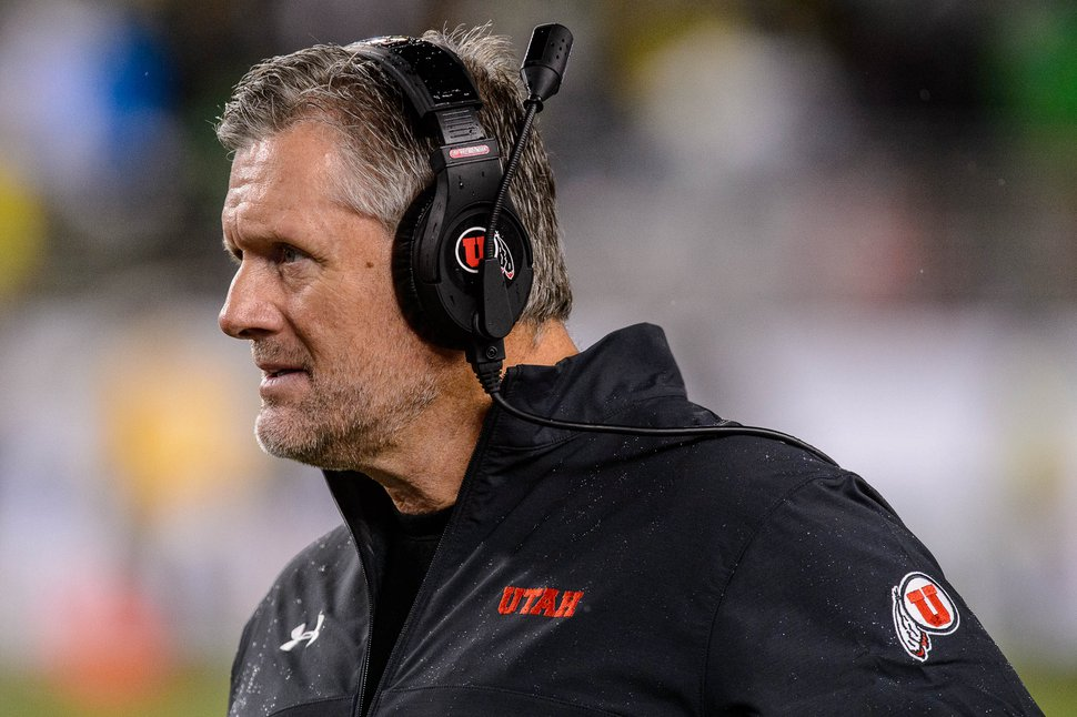 (Trent Nelson | The Salt Lake Tribune) Kyle Whittingham as Utah faces Oregon in the Pac-12 football championship game in Santa Clara, Calif., on Friday Dec. 6, 2019.