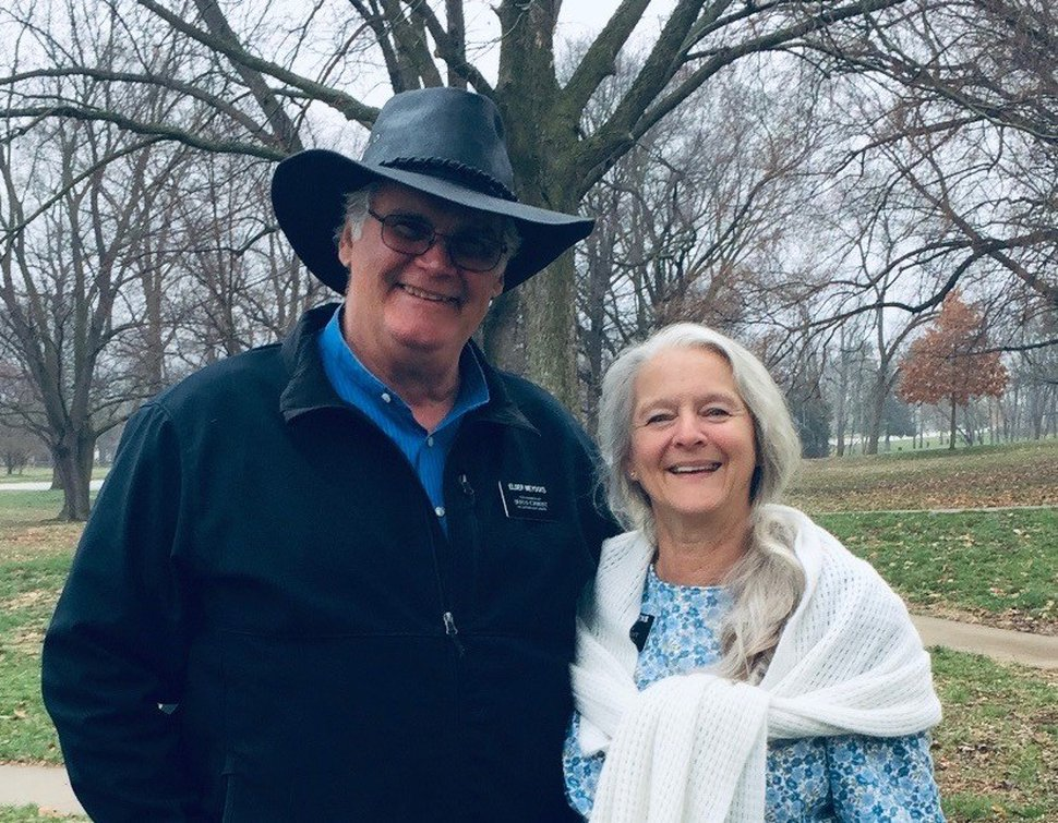 (Photo courtesy of the Meyocks family and The Church of Jesus Christ of Latter-day Saints) Craig L. Meyocks and his wife, Brenda, senior missionaries working at the historic Nauvoo, Ill., site. Craig Meyocks died after an auto accident in Iowa; Brenda Meyocks was injured in the crash.