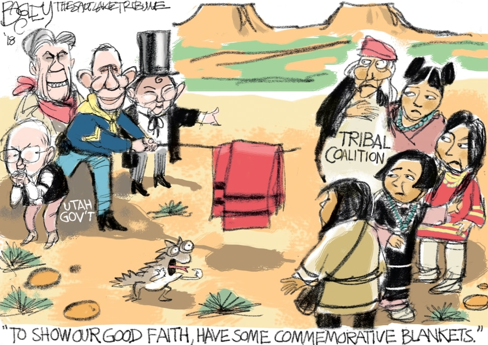 This Pat Bagley cartoon appears in The Salt Lake Tribune on Wednesday, Jan. 10, 2018.