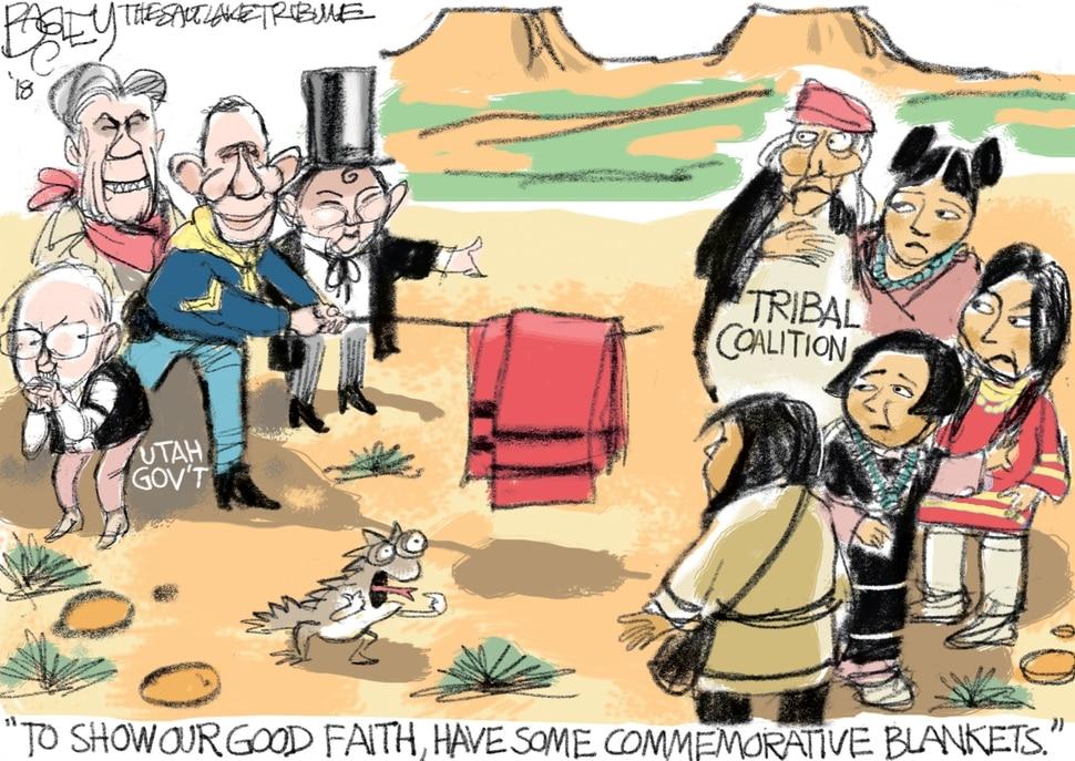 This Pat Bagley cartoon appears in The Salt Lake Tribune on Wednesday, Jan. 10, 2018.