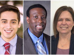 (Photos courtesy of Salt Lake City School District) From left, Jharrett Bryantt, Timothy Gadson and Wendy González, candidates for Salt Lake City School District superintendent.
