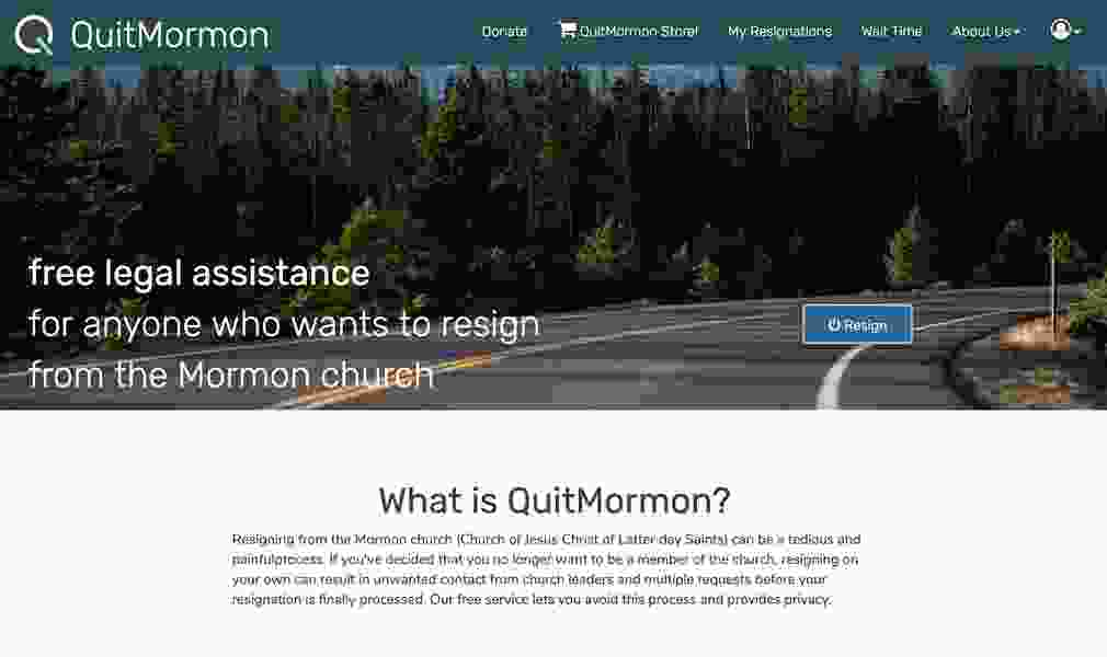 The LDS Church adds a new step for members using QuitMormon.com to resign, complains of fraud