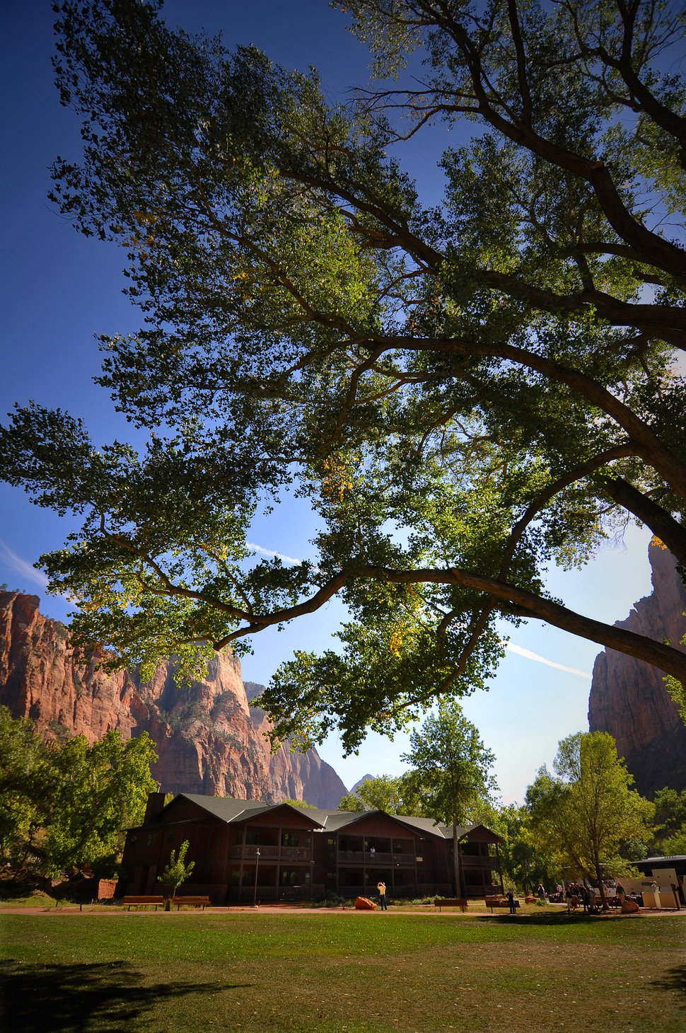 (Courtesy photo) The Sentinel and The Watchman hotel buildings at Zion National Park Lodge recently earned LEED Silver certification for adopting measures to create healthy, highly efficient and cost-saving buildings.