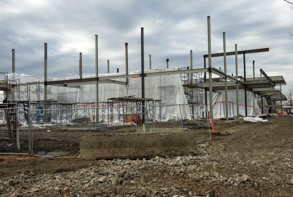 (Rick Egan | The Salt Lake Tribune) The homeless shelter under construction at 3380 South 1000 West, in South Salt Lake. Friday, Dec. 21, 2018.