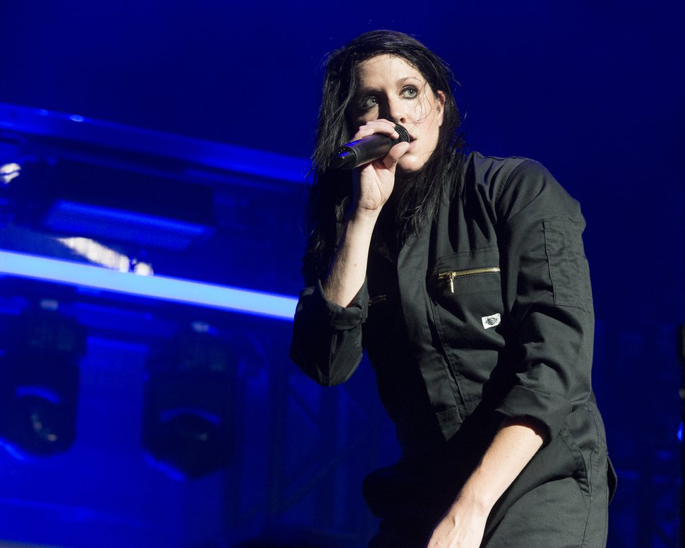 (Associated Press file photo) Rapper-singer K.Flay, seen here performing in 2017, will be one of the featured acts at the LoveLoud Festival, set for June 29 at Usana Amphitheatre in West Valley City, Utah.