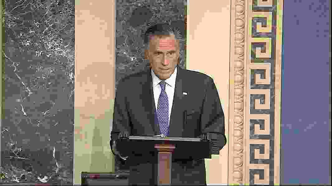 Full transcript of Sen. Mitt Romney's Senate impeachment trial remarks