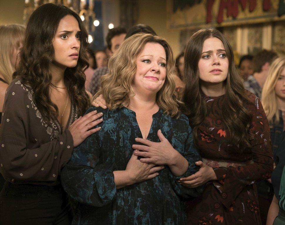 Adria Arjoni, Melissa McCarthy and Molly Gordon in a scene from