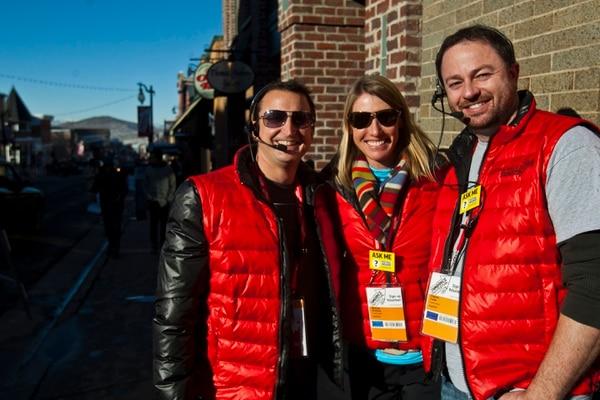 (Chris Detrick | Tribune file photo) Volunteers John Moody, Melinda Breiholz and Clayton Carter during the 2013 Sundance Film Festival in Park City.
