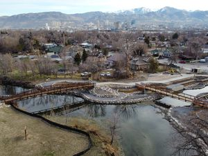 (Francisco Kjolseth  | The Salt Lake Tribune) The Seven Canyons Trust nears completion of its project to open Three Creeks Confluence Park in Salt Lake City where Emigration, Red Butte and Parleys creeks meet the Jordan River near 1300 South and 900 West.