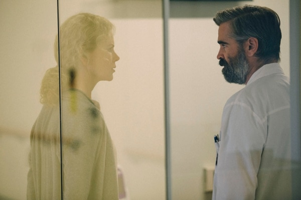 (Courtesy A24 Films) Colin Farrell (right) plays a surgeon at the breaking point, and Nicole Kidman plays his wife, in director Yorgos Lanthimos' dark horror/drama