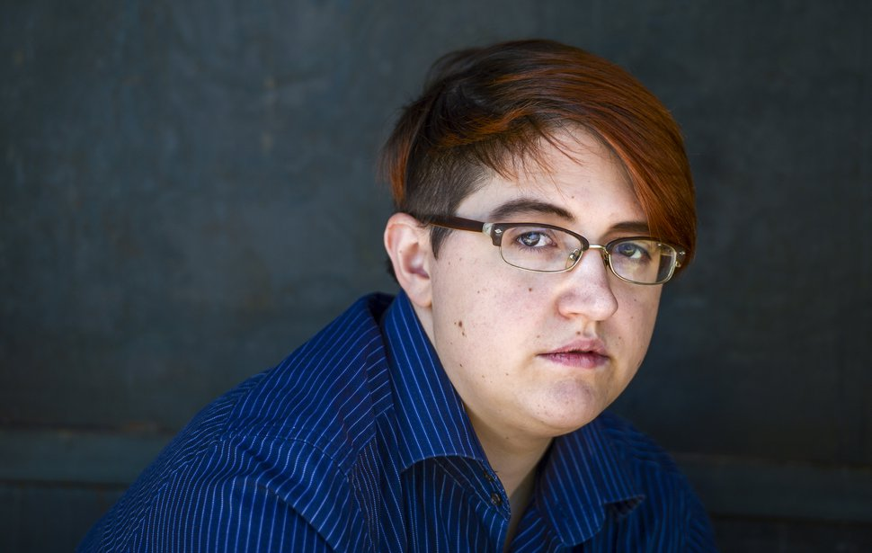 Leah Hogsten | The Salt Lake Tribune Mel Van De Graaff has become one of the first Utahns to receive gender non-binary markers on their government documents, Sept. 26, 2018. Van De Graaff has an
