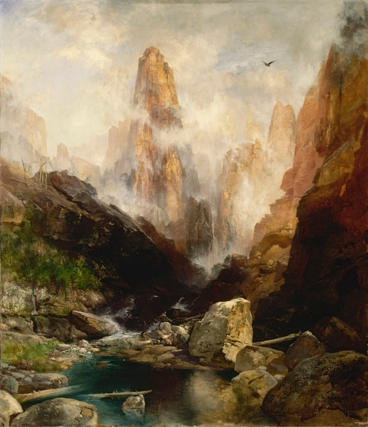 (Image courtesy Smithsonian American Art Museum) Thomas Moran's 1892 oil painting Mist in Kanab Canyon, Utah is one of three works from the Smithsonian American Art Museum's collection that will be on display for a year, starting Oct. 25, at the Utah Museum of Fine Arts, both museums announced Monday, July 8, 2019.