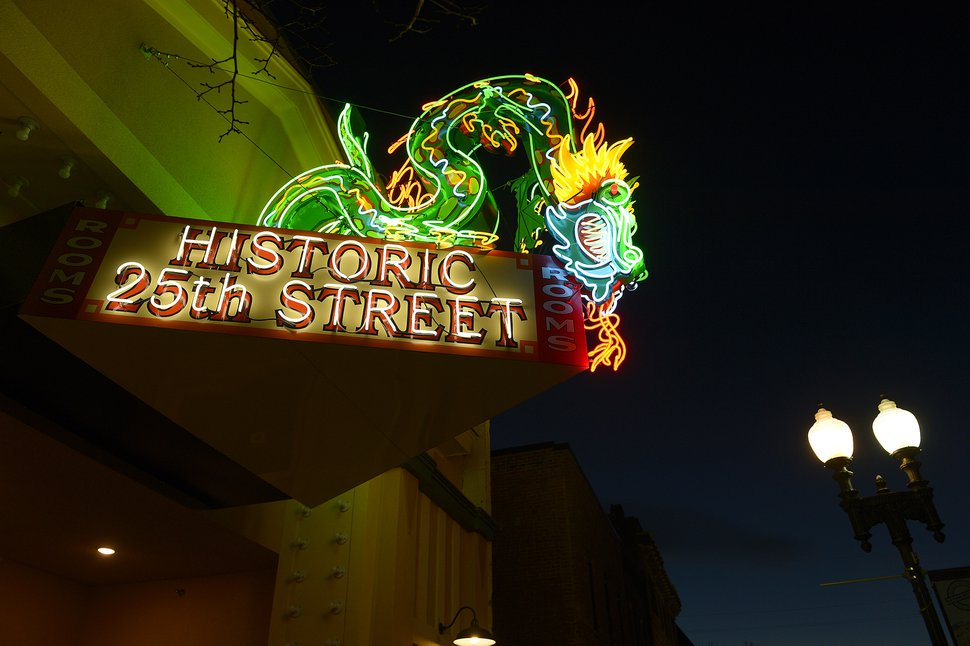 (Leah Hogsten | Tribune file photo) The former Star Noodle dragon sign stood watch over 25th Street in Ogden, Utah, for more than five decades and is a recognizable icon to longtime Ogden residents as well as visitors.
