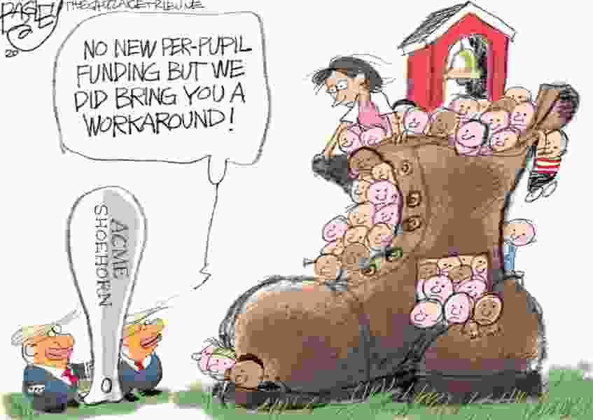 Bagley Cartoon: The Shoehorn Solution