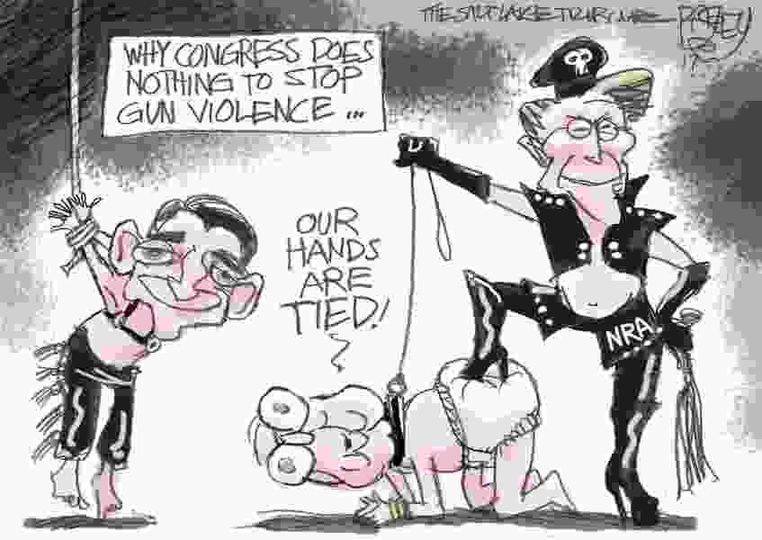 Bagley Cartoon: Congress and the NRA