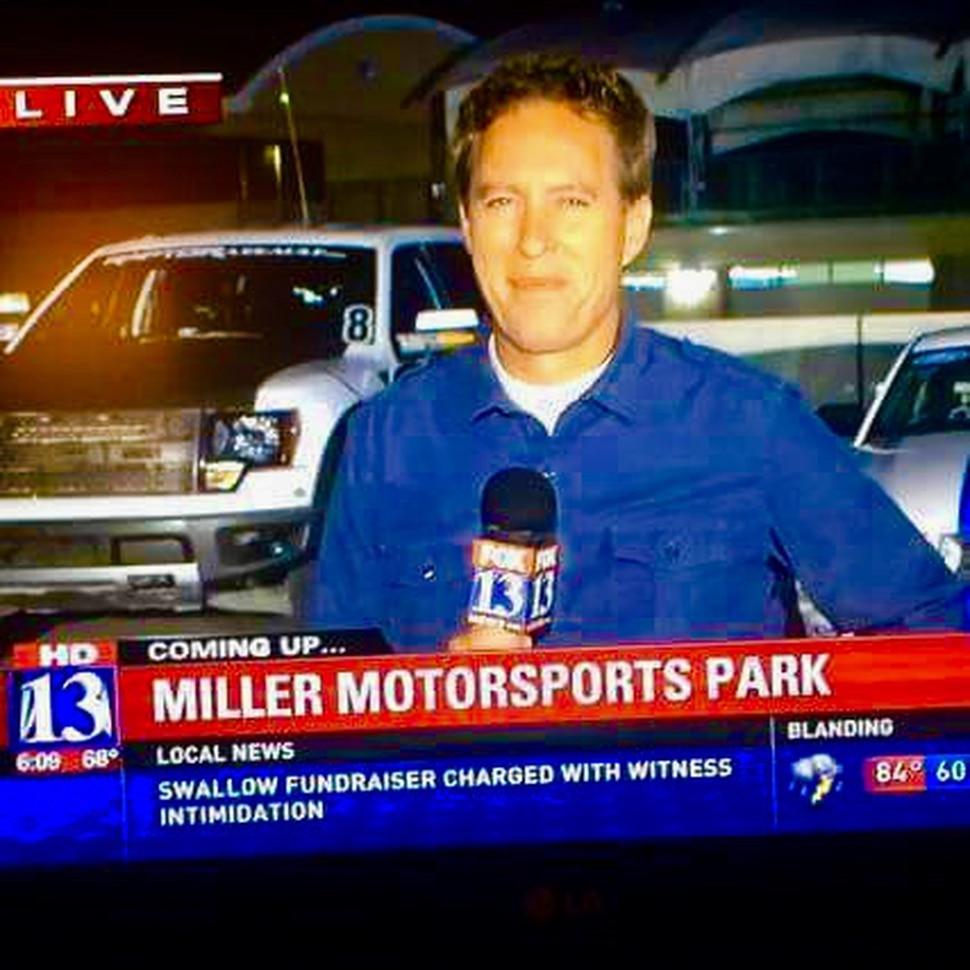 (Photo courtesy of Joe Wren) Fox 13 anchor/reporter Joe Wren on the job.