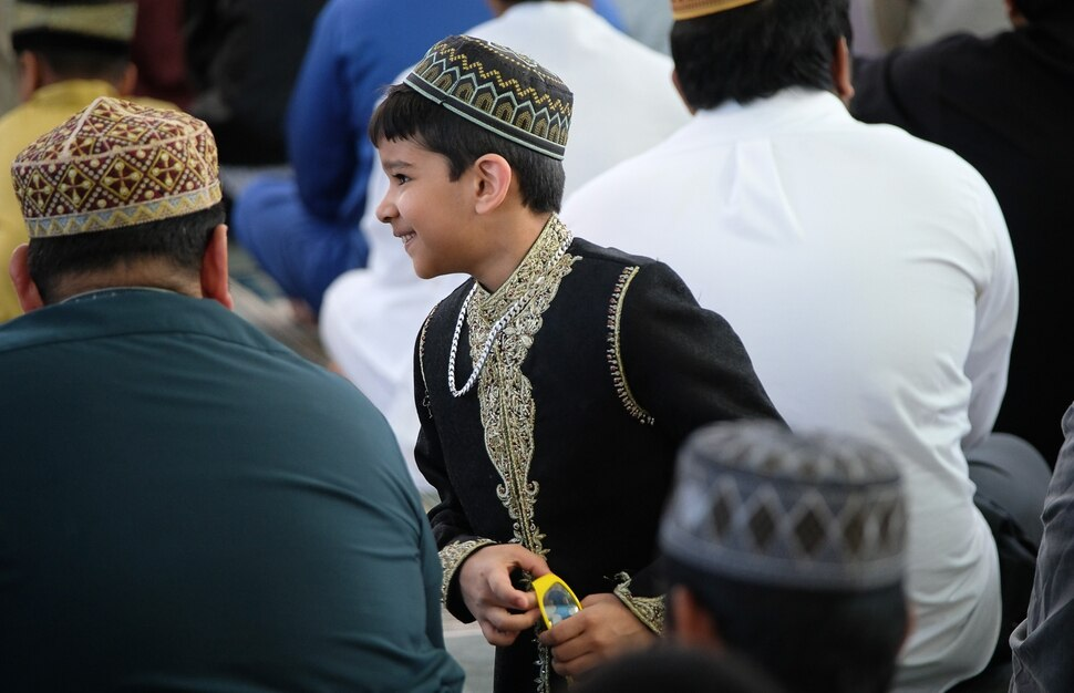 (Francisco Kjolseth | The Salt Lake Tribune) Hamza Bilal, 7, joins other members of the Khadeeja Islamic Center in West Valley City to mark the end of Ramadan, a 30 day period of fasting and spiritual growth on Wed. June 5, 2019.