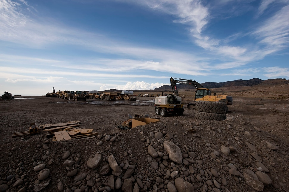 (photo courtesy Chris Federer) Initial construction on Promontory Point Resources' landfill is underway.