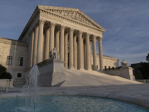 (J. Scott Applewhite | AP) In this Nov. 5, 2020, file photo, the Supreme Court is seen in Washington. Utah has joined the legal fight against national abortion rights.