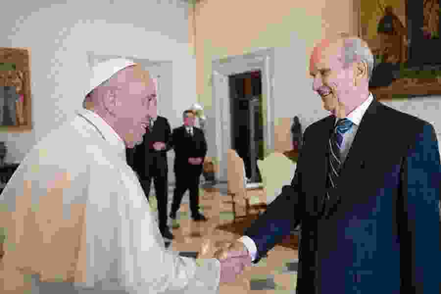 Pope Francis, Russell Nelson share a hug, discuss global relief in first-ever meeting between a Latter-day Saint prophet and a Catholic pontiff