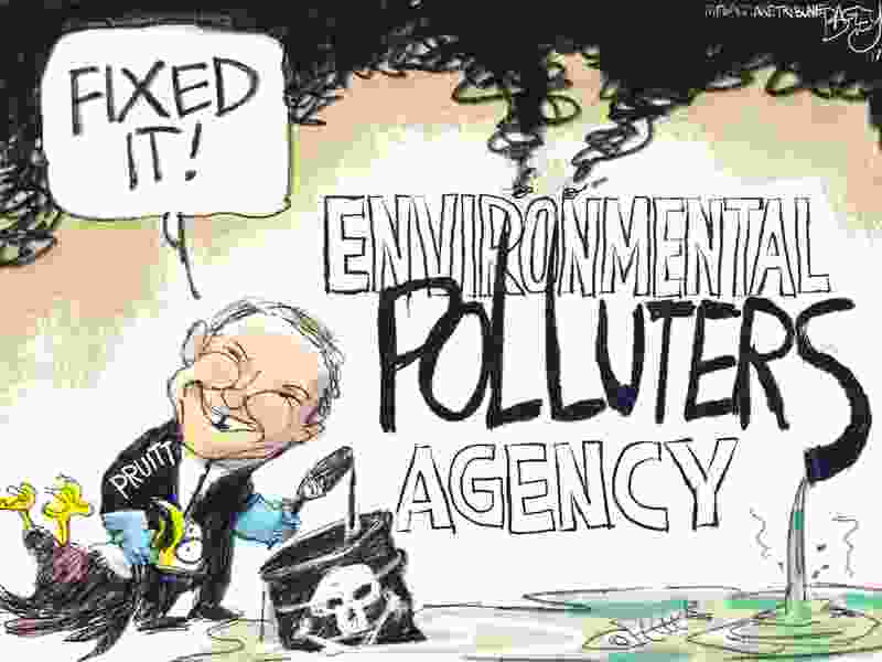 Letter: Pruitt's record shows he's a terrible choice for EPA