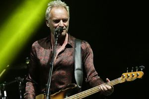 (Arnulfo Franco | The Associated Press) In this Oct. 19, 2018, file photo, Sting performs during a concert. A new book examines the Catholicism laced through the singer's music.