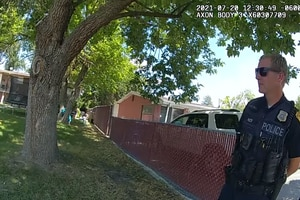 (Salt Lake City Police Department) This screenshot of body camera footage released Wednesday shows Salt Lake City police officers responding to a man who had barricaded himself. They exchanged gunfire, and the man died on July 20, 2021.