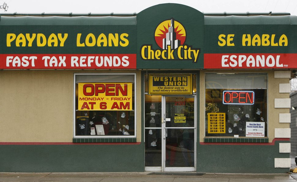 (Leah Hogsten | Tribune file photo ) A Check City store, which offers payday loans, in Salt Lake City.