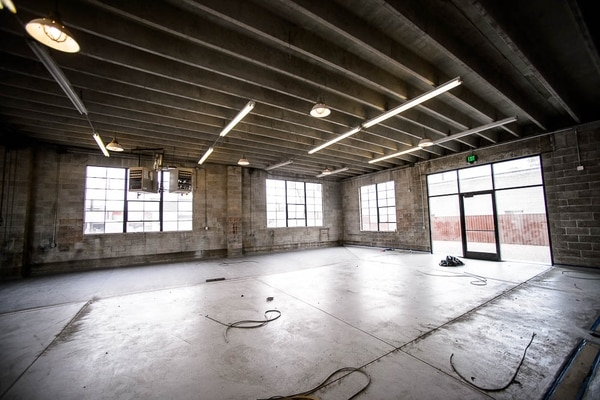 (Trent Nelson | The Salt Lake Tribune) Salt Lake City's T.F. Brewing is under construction at 936 S. 300 West, in an old auto repair shop. It will open sometime in the fall.