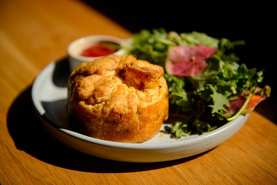 (Trent Nelson | The Salt Lake Tribune) Meat Pie at Campos Coffee Roastery and Kitchen in Salt Lake City, Friday, Aug. 31, 2018.